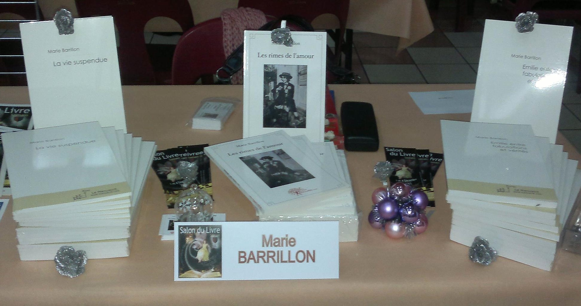 Marie BARRILLON - Salon du livre de Somain (59) - Le 04-12-2011